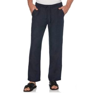 """Cubavera Big and Tall Blue 1XB/30"""" Linen Pants"""